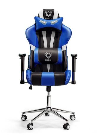 DIABLO X-EYE Gaming Chair Black & white & blue