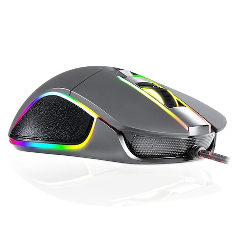 KLIM AIM Chroma RGB Gaming Mouse - Wired USB - Adjustable 500 to 7000 DPI - Programmable Buttons - product photo 3