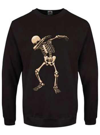 "Men's Skeleton Dab Sweater Black - Medium (Mens 38"" - 40"")"