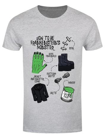 Men's How To Be Frankenstein's Monster Grey Halloween T-shirt - L Gray