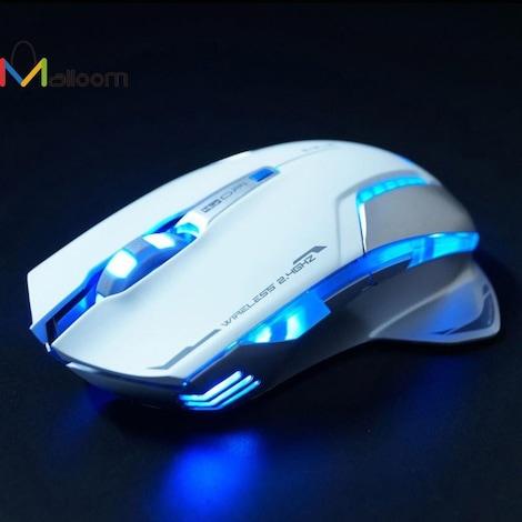 Gaming Mouse Laser Battery Finger mouse  White