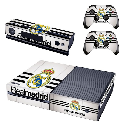 [REYTID] Xbox One Console Skin / Sticker + 2 x Controller Decals & Kinect Wrap - Real Madrid Home Multi-colour XBOX ONE
