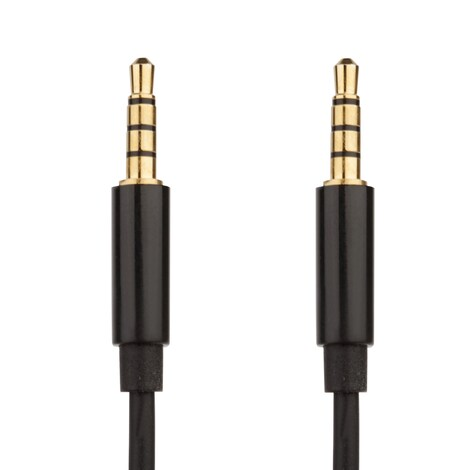 [REYTID] Denon AH-NC800 AH-NC732 AH-D320 AH-D340 AH-D400 Replacement Audio Cable - Black - 1.2m Black
