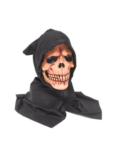 Hooded Skull Mask Grim Reaper Skeleton Scary Skull Ghost Halloween