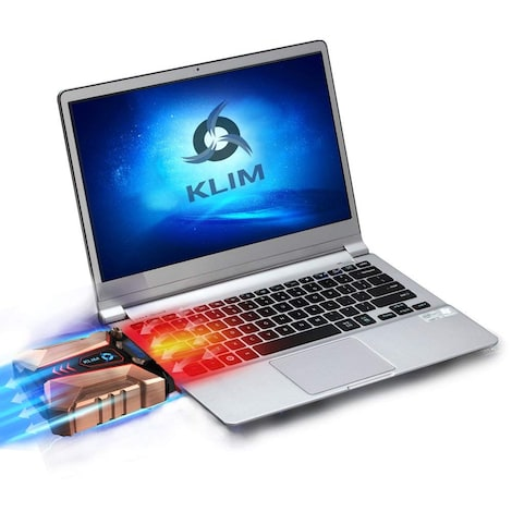 KLIM Cool + Laptop Cooler Laptop in Metal - The Most Powerful - Air Vacuum USB for Immediate Cooling