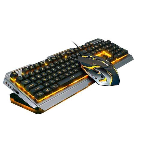Wired Backlit illuminated Ergonomic Usb Gaming Keyboard + 3200DPI Optical Mouse