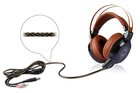 Wired Gaming Headset Deep Bass Black 1ft. - product photo 9