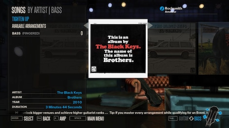 Rocksmith - The Black Keys - Tighten Up Key Steam GLOBAL