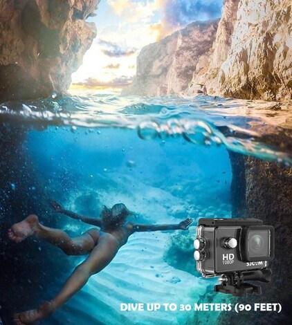SJCAM SJ4000 12MP Action Camera Underwater Camera Sport Camcorder Golden - product photo 4