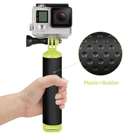 Floating Bobber Hand Grip Selfie Stick Waterproof For Gopro Black Plastic