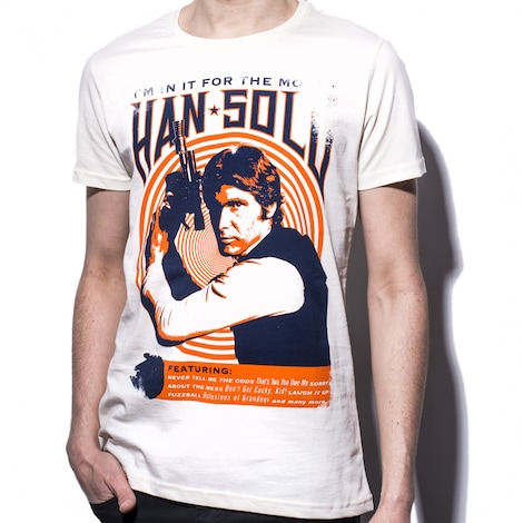 STAR WARS: Han Solo Vintage Rock Poster Men's T-shirt S White - product photo 1