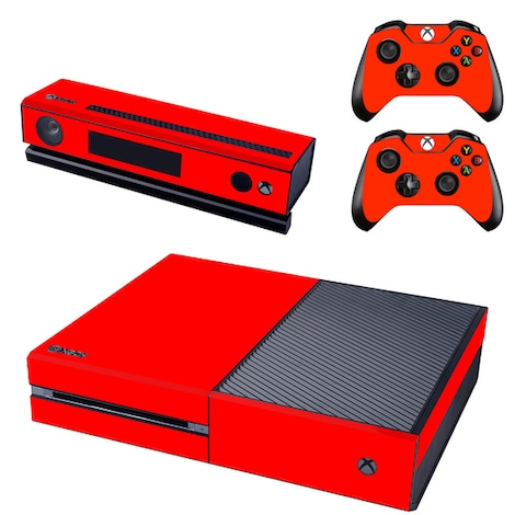 [REYTID] Xbox One Console Skin / Sticker + 2 x Controller Decals & Kinect Wrap - Red XBOX ONE Red