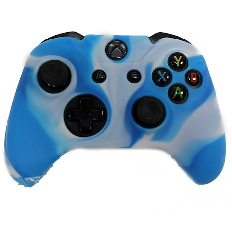 [REYTID] Xbox ONE Controller Skin Silicone Protective Rubber Cover Gel Grip Case - Light Blue/White Multi-colour XBOX ONE