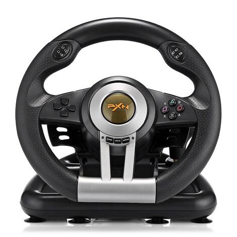 PXN V3II Racing Game Steering Wheel with Brake Pedal