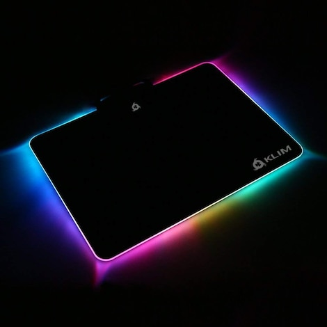 KLIM RGB Chroma Mousepad USB, 38.4 x 30.6 x 2.2 cm - Black with Lighting Effects [ New Version ] - product photo 1