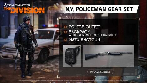 Tom Clancy's The Division - N.Y. Policeman Gear Set Key Uplay GLOBAL