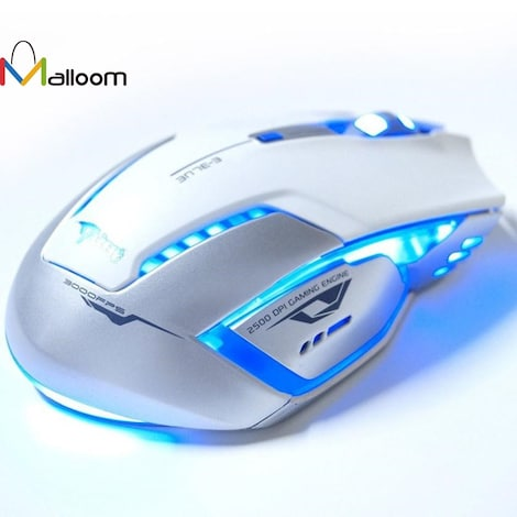 Gaming Mouse Laser Battery Finger mouse  White - product photo 1