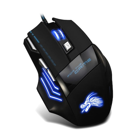 Wired Gaming Mouse Professional 7 Buttons Adjustable 5500DPI USB Cable LED Optical Gamer Mouse for Computer