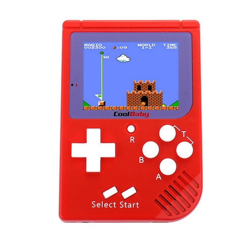 Coolboy Retro Mini 2 Handheld Classic Console built-in 129 games Video  Electronic Portable Handheld Console Red PC