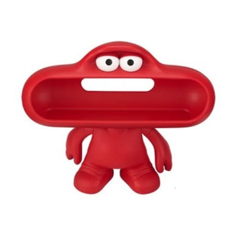 [REYTID] Beats by Dr. Dre Pill DUDE RED Character Speaker Holder Stand Mount  Red