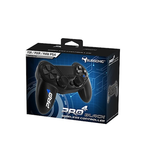Pro4 black wireless gamepad controller for Playstion 4 / PS4 Slim / PS3