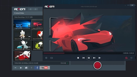 Action! - Game Recording and Streaming (Commercial use) GLOBAL Key