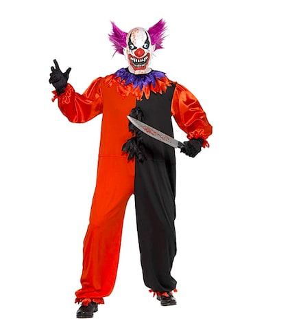 Adult men's Cirque Sinister Scary Bo Bo the Clown Costume