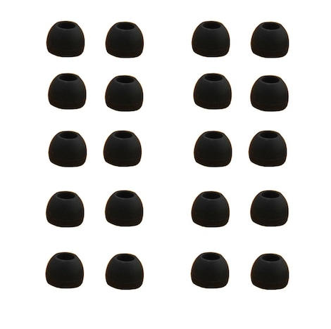 Ear Buds - 10 Pairs Medium Size Silicone Replacements White - product photo 2