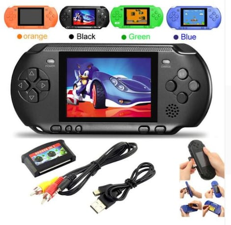 NEW PXP 3 16 BIT PVP HANDHELD PORTABLE VIDEO GAMES CONSOLE 150 RETRO MEGADRIVE Blue PC