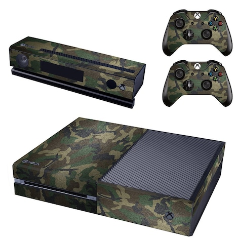 [REYTID] Xbox One Console Skin / Sticker + 2 x Controller Decals & Kinect Wrap - Army Camo Multi-colour XBOX ONE