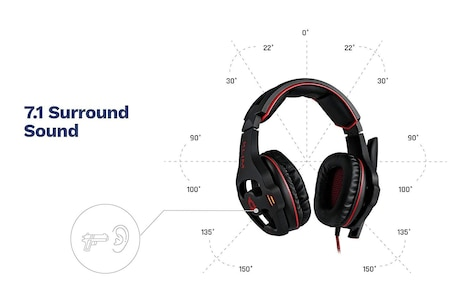 KLIM Mantis - Micro Gaming Headset with Mic - USB 7.1 - High Quality - For PC PS4 Gaming [ New Version ] - product photo 2