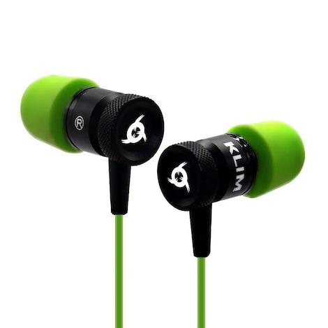 KLIM Fusion Earphones High Quality Audio + 5 years Warranty - Innovative: In-Ear with Memory Foam Green