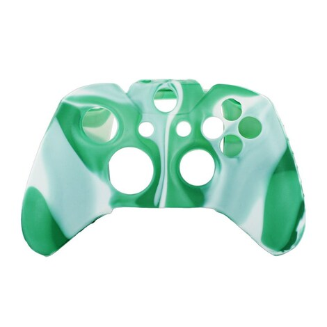 [REYTID] Xbox ONE Controller Skin Silicone Protective Rubber Cover Gel Grip Case - Light Green/White Multi-colour XBOX ONE