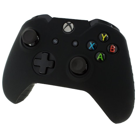 [REYTID] Xbox ONE Controller Skin Silicone Protective Rubber Cover Gel Grip Case - Black Black XBOX ONE