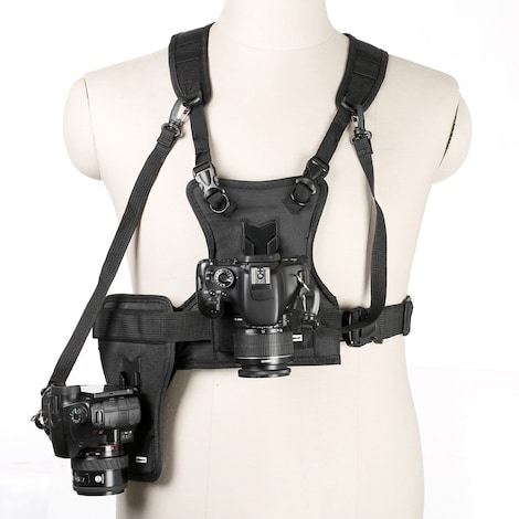Multi Camera Carrier -  Harness Holster System Strap Holder Black Nylon - product photo 1
