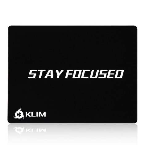 KLIM Stay Focused High Quality Mousepad Mouse Mat - Anti-slippage - Extremely Smooth - 32 x 27 x 0.3cm
