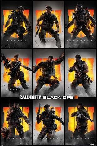 ,Call of Duty: Black Ops 4 Characters Maxi Poster 61x91 . 5cm