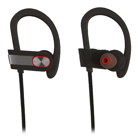 [REYTID] Wireless Sports Earphones w/ In-Line Microphone & Volume Control - HD Sound - Grey/Black Multi-Color