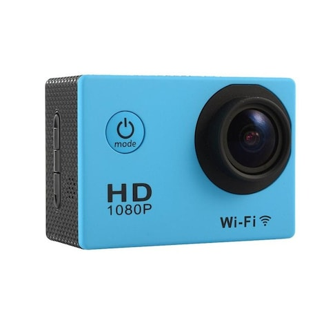 Waterproof Sports camera  - WIFI action 1080P HD DV  Blue - product photo 5