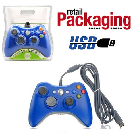 New USB Game Pad Controller For Microsoft Xbox 360 Console / PC Windows XBOX 360 Red - product photo 2