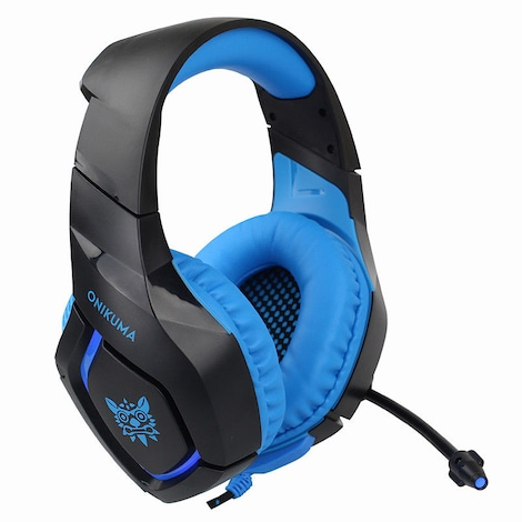 ONIKUMA K1S Game Headset Headphone for PS4 Xbox One Nintendo Switch PlayStation Light Blue - product photo 5