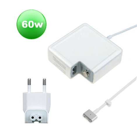 High Quality CE 60W T-style MS2 Power Adapter Charger for Apple Macbook PRO (Retina) 15-inch A1398 EU plug