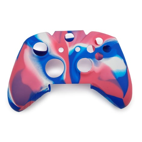 [REYTID] Xbox ONE Controller Skin Silicone Protective Rubber Cover Gel Grip Case - Blue/Pink/White Multi-colour XBOX ONE