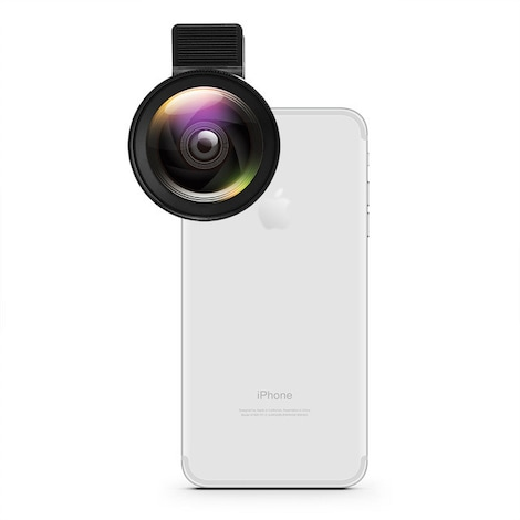 Phone Camera Lens 2 in 1  Black Plastic
