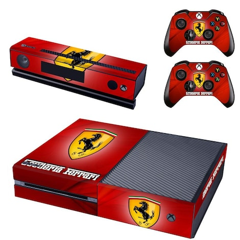 [REYTID] Xbox One Console Skin / Sticker + 2 x Controller Decals & Kinect Wrap - Ferrari Multi-colour XBOX ONE