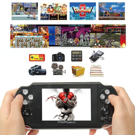 64Bit 4.3inch PAP Gameta II 4G Game Consoles 2.4G Wireless Handheld Video Games
