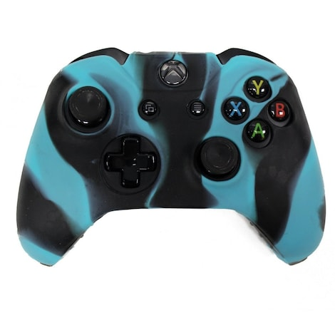 [REYTID] Xbox ONE Controller Skin Silicone Protective Rubber Cover Gel Grip Case - Light Blue/Black Black XBOX ONE