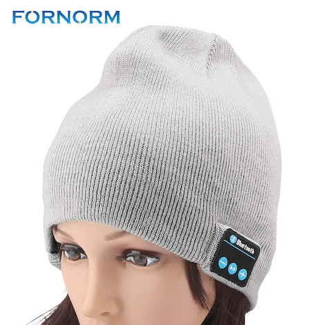 Smart Wearable - Stereo Magic Music Hat  Gray