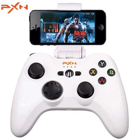 PXN - 6603 MFi Certified Wireless Bluetooth Game Controller Joystick Vibration Handle Gamepad for iPhone