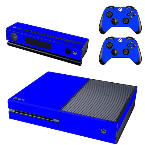 [REYTID] Xbox One Console Skin / Sticker + 2 x Controller Decals & Kinect Wrap - Blue Blue XBOX ONE